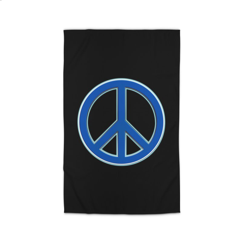 Peace Symbol No War Home Rug by Leading Artist Shop