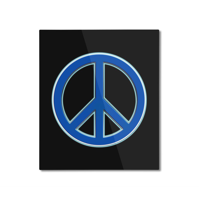 Peace Symbol No War Home Mounted Aluminum Print by Leading Artist Shop
