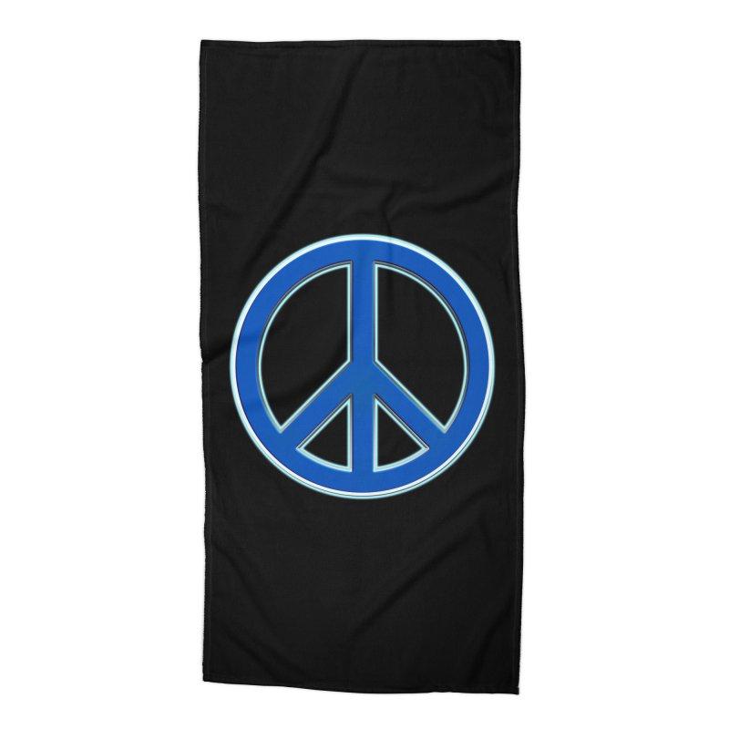 Peace Symbol No War Accessories Beach Towel by Leading Artist Shop