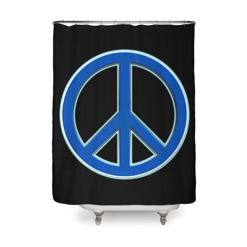 Peace Symbol No War Home Shower Curtain by Leading Artist Shop