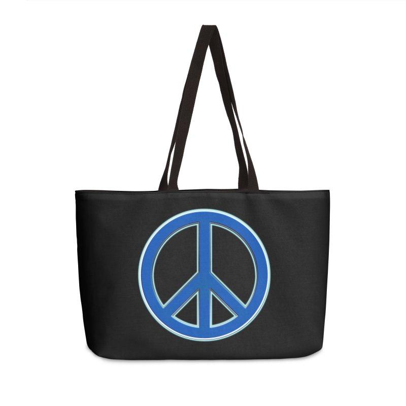 Peace Symbol No War Accessories Weekender Bag Bag by Leading Artist Shop