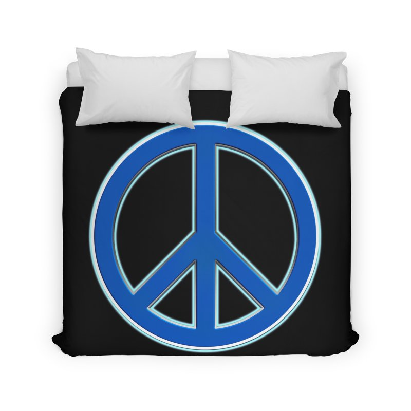Peace Symbol No War Home Duvet by Leading Artist Shop
