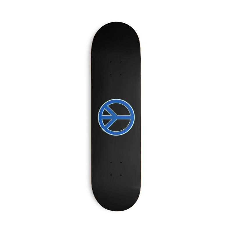Peace Symbol No War Accessories Deck Only Skateboard by Leading Artist Shop