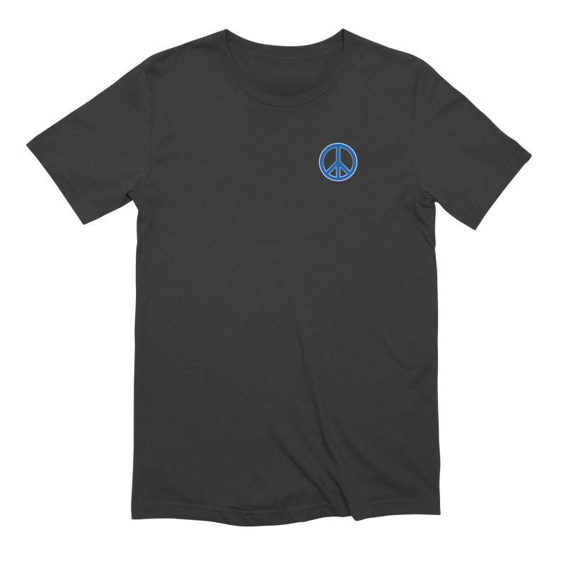 Peace Symbol No War Men's Extra Soft T-Shirt by Leading Artist Shop
