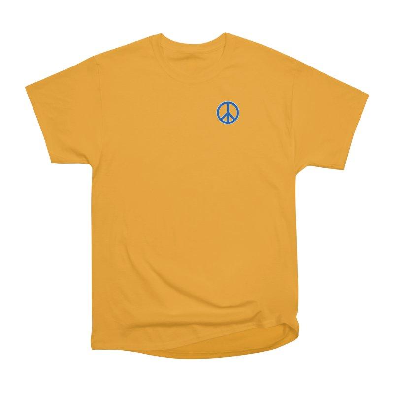 Peace Symbol No War Men's Heavyweight T-Shirt by Leading Artist Shop