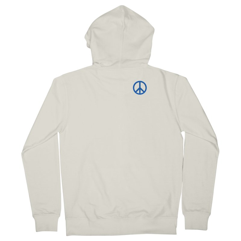Peace Symbol No War Men's French Terry Zip-Up Hoody by Leading Artist Shop