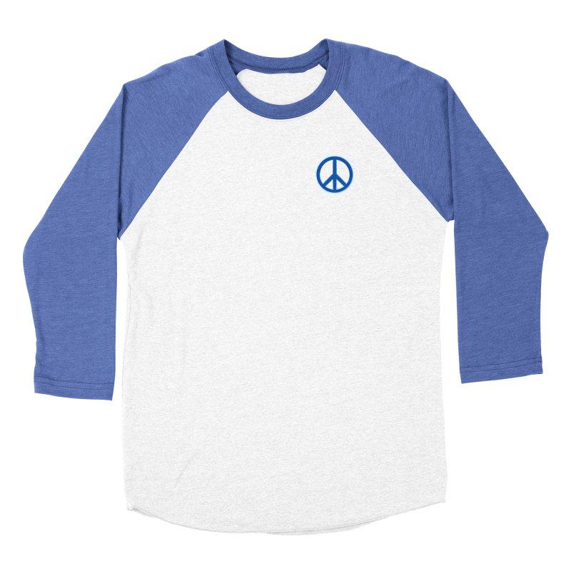 Peace Symbol No War Men's Baseball Triblend Longsleeve T-Shirt by Leading Artist Shop