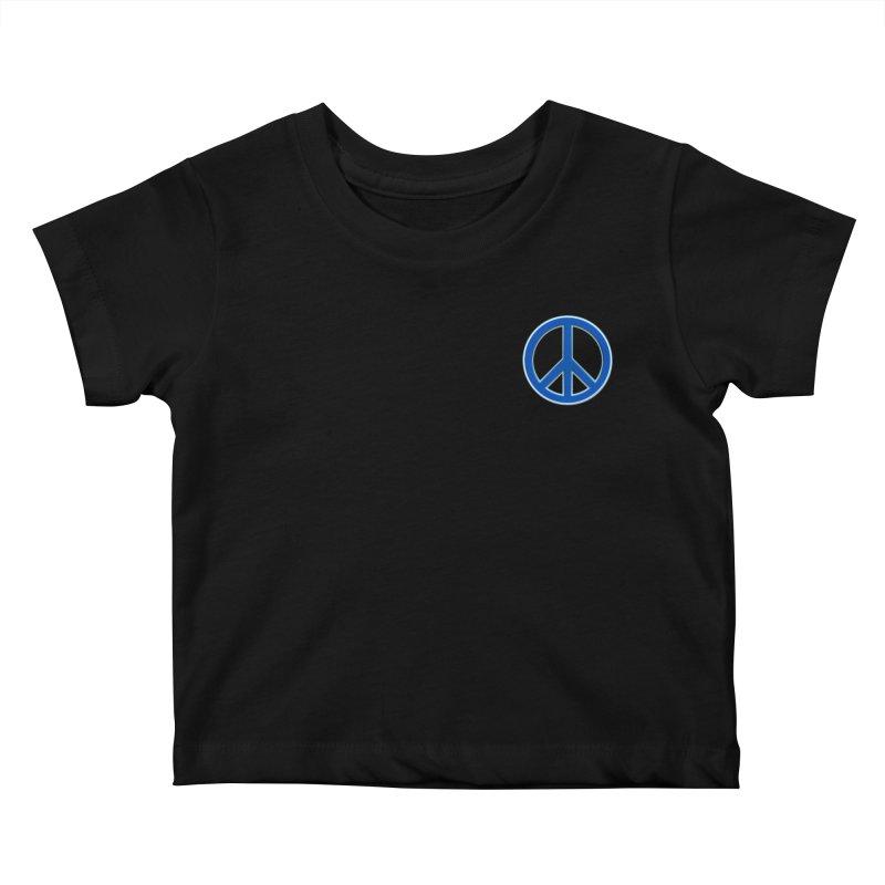 Peace Symbol No War Kids Baby T-Shirt by Leading Artist Shop