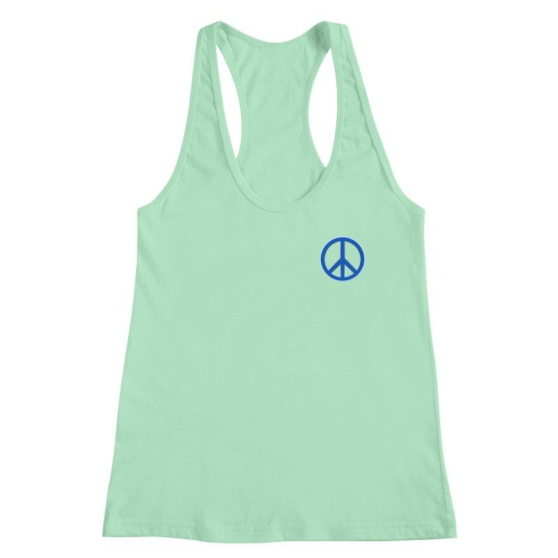 Peace Symbol No War Women's Racerback Tank by Leading Artist Shop