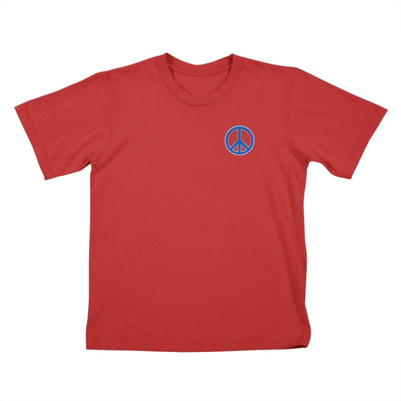 Peace Symbol No War Kids T-Shirt by Leading Artist Shop