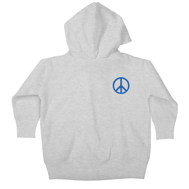 Peace Symbol No War Kids Baby Zip-Up Hoody by Leading Artist Shop