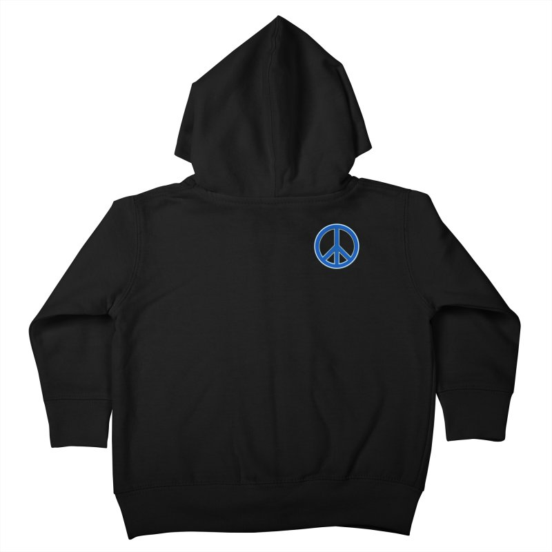 Peace Symbol No War Kids Toddler Zip-Up Hoody by Leading Artist Shop