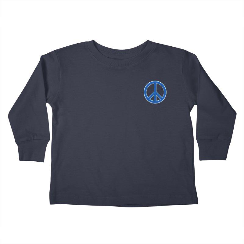Peace Symbol No War Kids Toddler Longsleeve T-Shirt by Leading Artist Shop