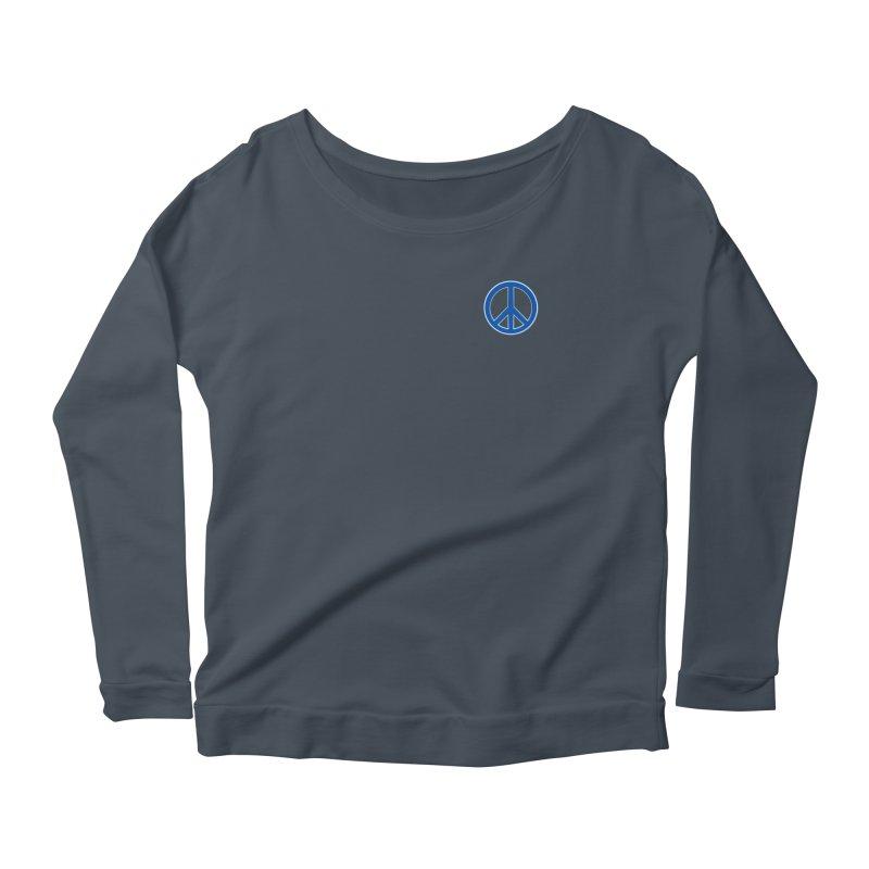 Peace Symbol No War Women's Scoop Neck Longsleeve T-Shirt by Leading Artist Shop