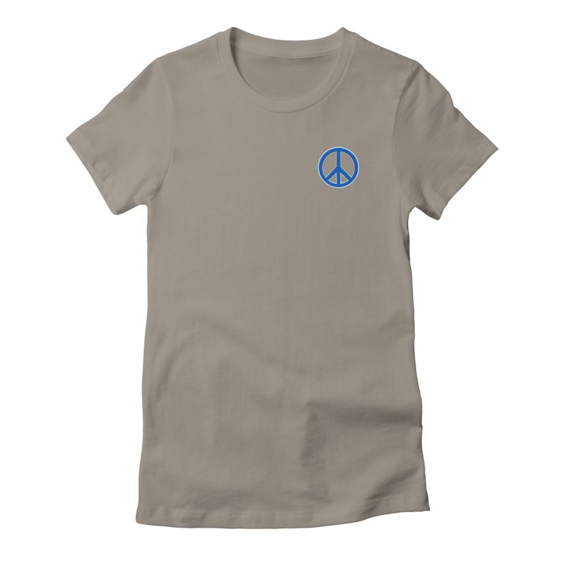 Peace Symbol No War Women's Fitted T-Shirt by Leading Artist Shop