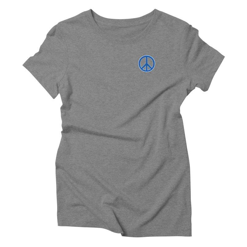 Peace Symbol No War Women's Triblend T-Shirt by Leading Artist Shop