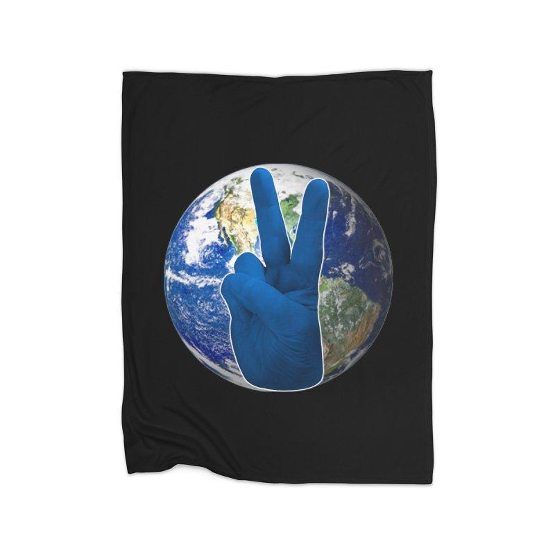 Peace Earth | Pantone 2020 Home Fleece Blanket Blanket by Leading Artist Shop