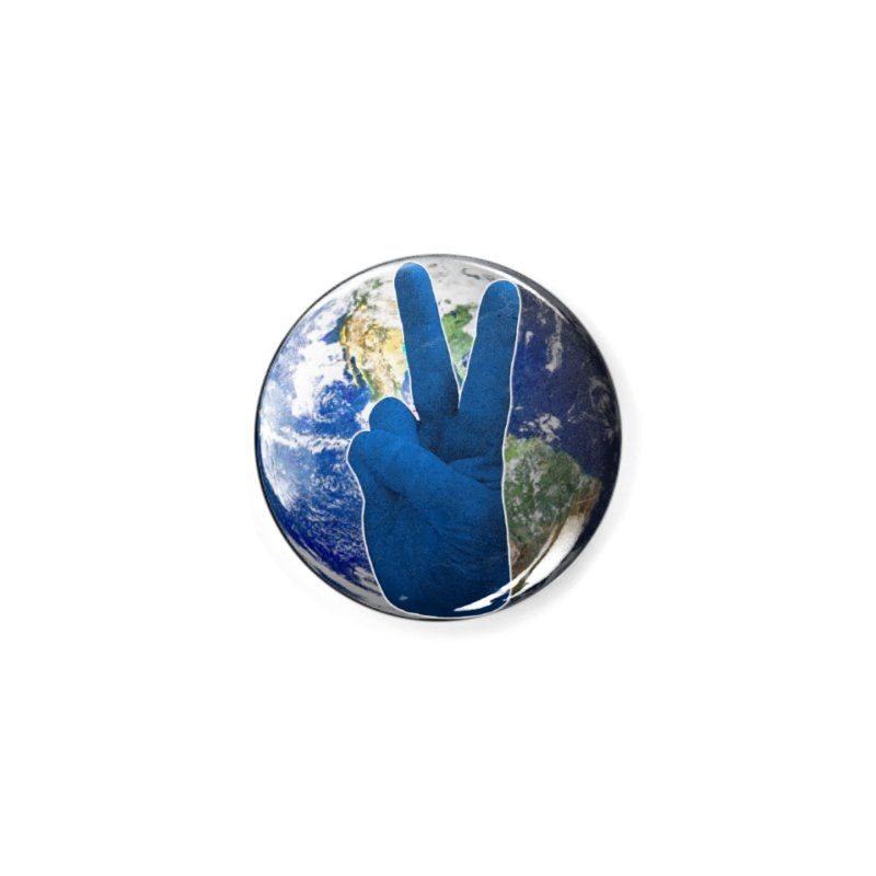 Peace Earth | Pantone 2020 Accessories Button by Leading Artist Shop
