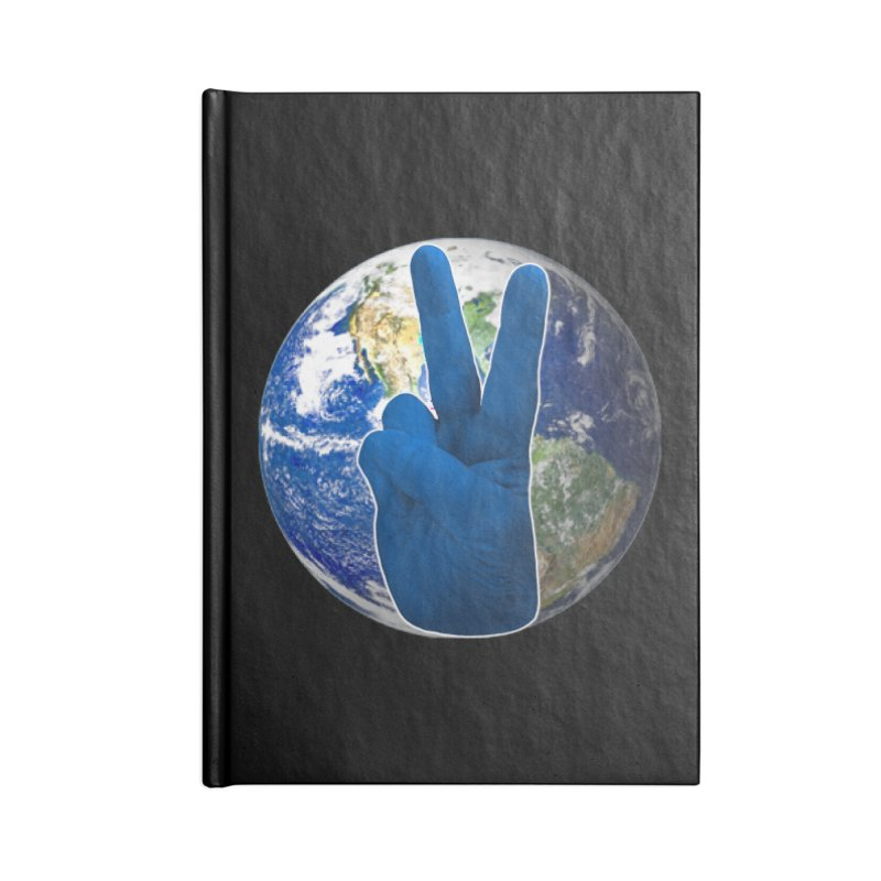 Peace Earth   Pantone 2020 Accessories Blank Journal Notebook by Leading Artist Shop