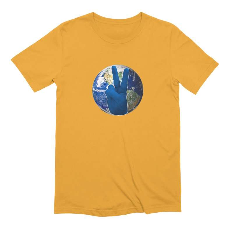 Peace Earth | Pantone 2020 Men's Extra Soft T-Shirt by Leading Artist Shop