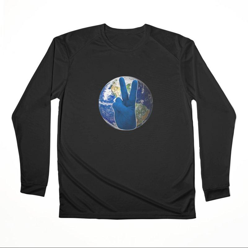 Peace Earth | Pantone 2020 Men's Performance Longsleeve T-Shirt by Leading Artist Shop