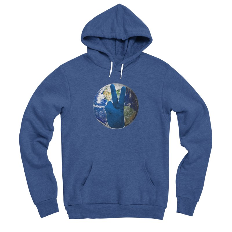 Peace Earth | Pantone 2020 Men's Sponge Fleece Pullover Hoody by Leading Artist Shop