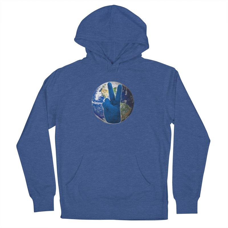Peace Earth | Pantone 2020 Women's French Terry Pullover Hoody by Leading Artist Shop