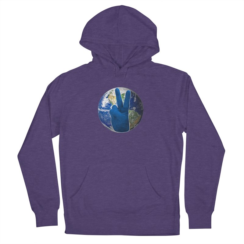 Peace Earth | Pantone 2020 Men's French Terry Pullover Hoody by Leading Artist Shop