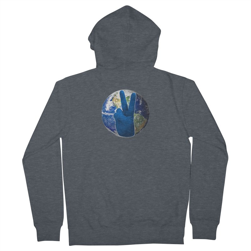 Peace Earth | Pantone 2020 Women's French Terry Zip-Up Hoody by Leading Artist Shop