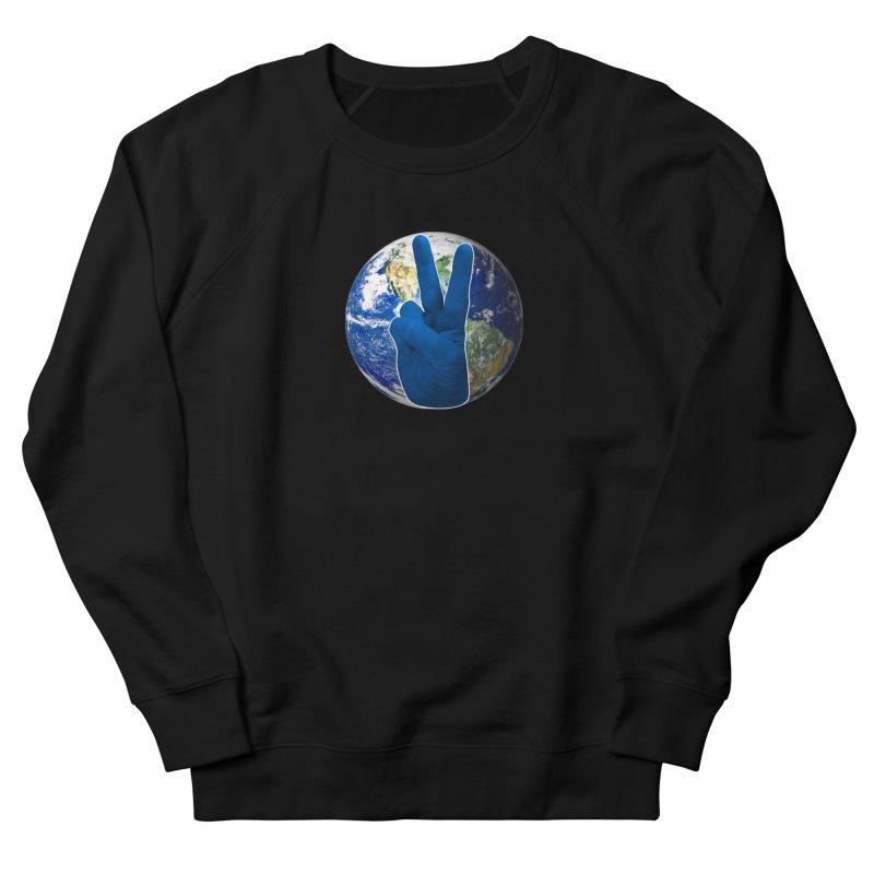 Peace Earth | Pantone 2020 Women's French Terry Sweatshirt by Leading Artist Shop
