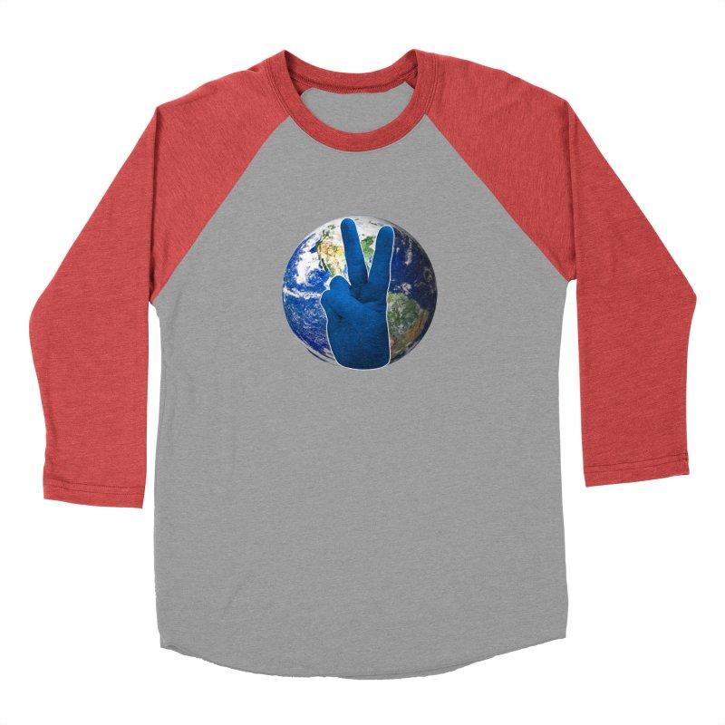 Peace Earth | Pantone 2020 Men's Baseball Triblend Longsleeve T-Shirt by Leading Artist Shop