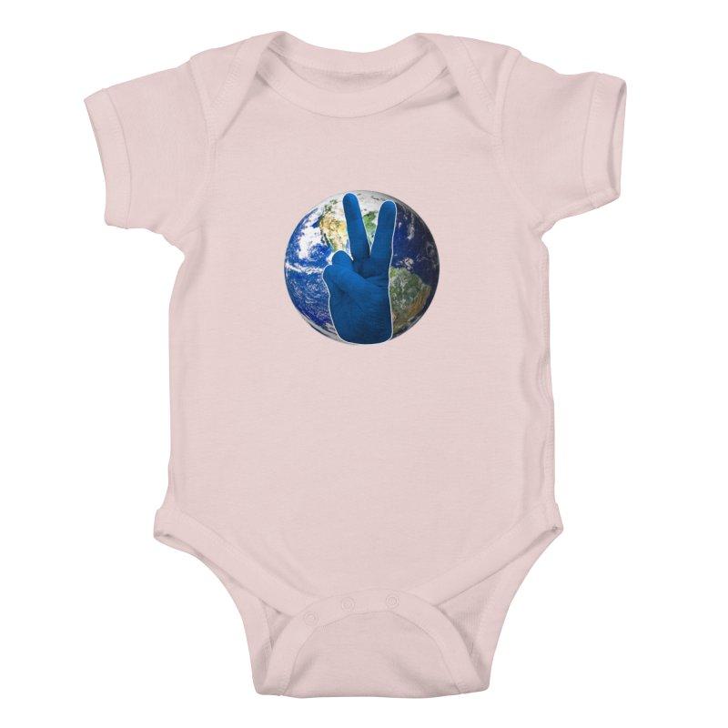 Peace Earth | Pantone 2020 Kids Baby Bodysuit by Leading Artist Shop
