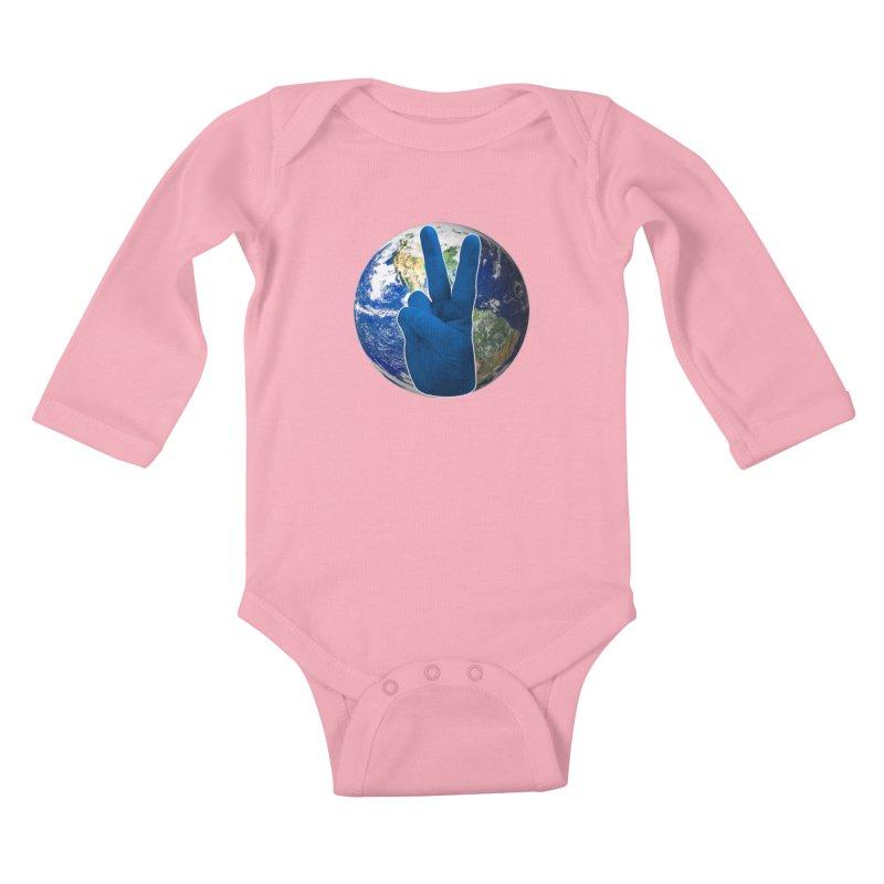 Peace Earth   Pantone 2020 Kids Baby Longsleeve Bodysuit by Leading Artist Shop
