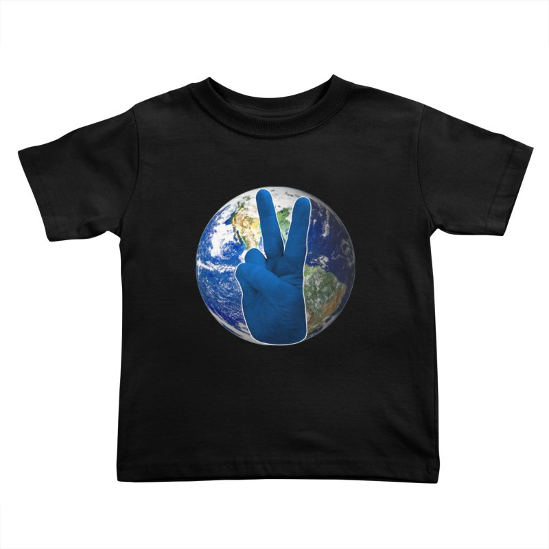 Peace Earth | Pantone 2020 Kids Toddler T-Shirt by Leading Artist Shop