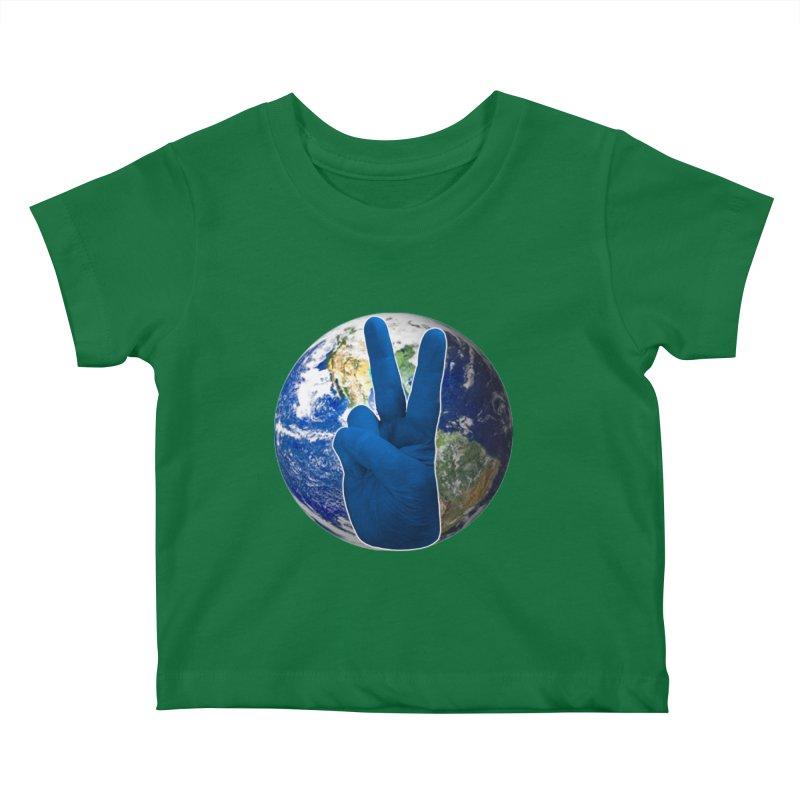 Peace Earth | Pantone 2020 Kids Baby T-Shirt by Leading Artist Shop