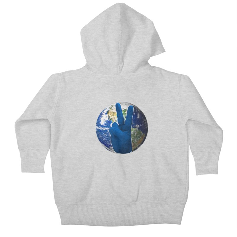 Peace Earth | Pantone 2020 Kids Baby Zip-Up Hoody by Leading Artist Shop