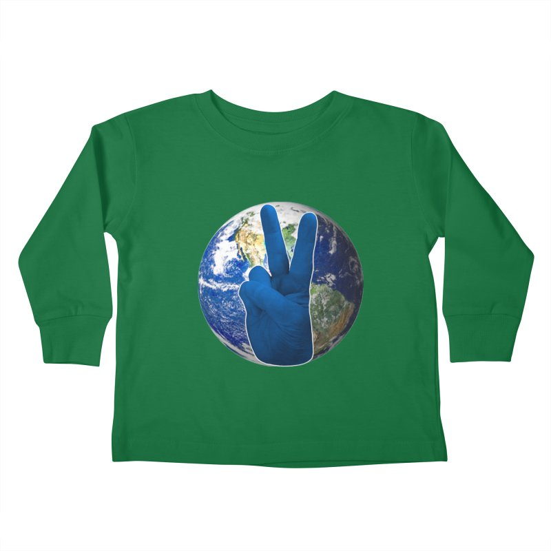 Peace Earth   Pantone 2020 Kids Toddler Longsleeve T-Shirt by Leading Artist Shop