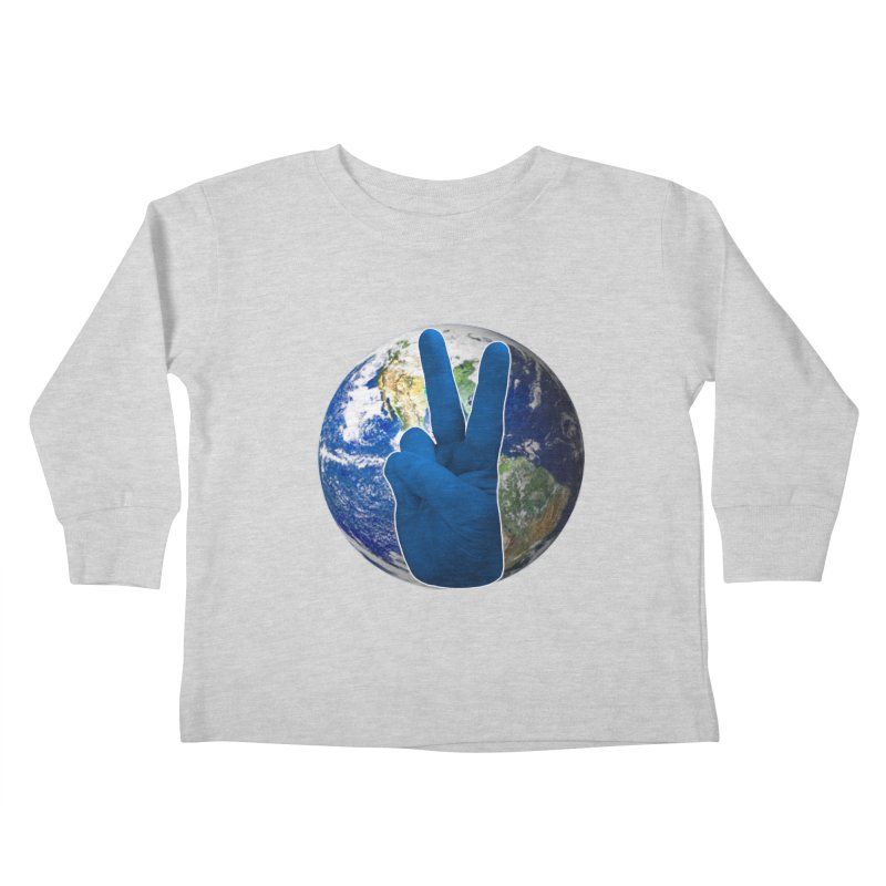 Peace Earth | Pantone 2020 Kids Toddler Longsleeve T-Shirt by Leading Artist Shop