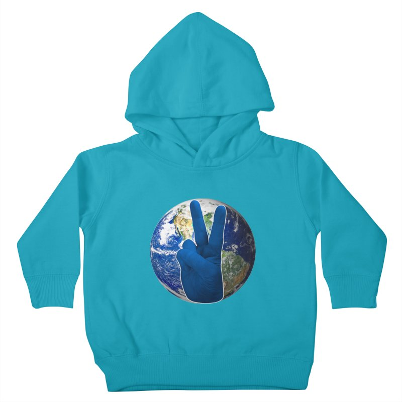Peace Earth | Pantone 2020 Kids Toddler Pullover Hoody by Leading Artist Shop