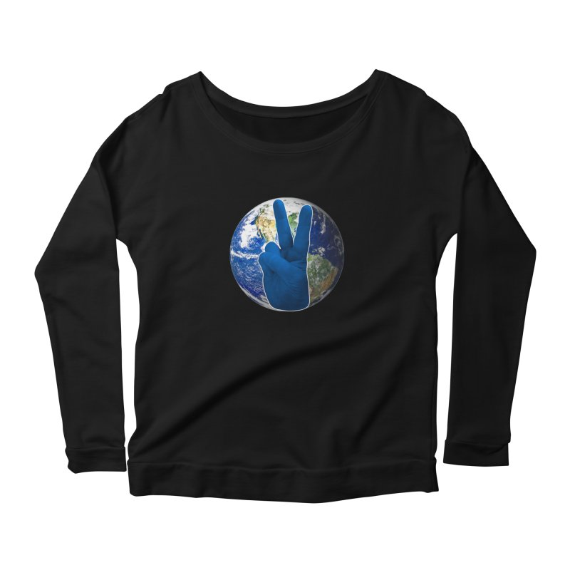 Peace Earth | Pantone 2020 Women's Scoop Neck Longsleeve T-Shirt by Leading Artist Shop