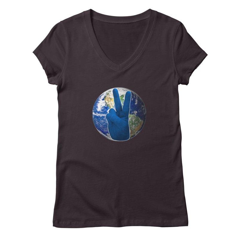 Peace Earth | Pantone 2020 Women's Regular V-Neck by Leading Artist Shop