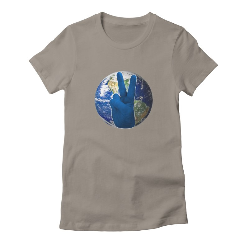 Peace Earth | Pantone 2020 Women's Fitted T-Shirt by Leading Artist Shop