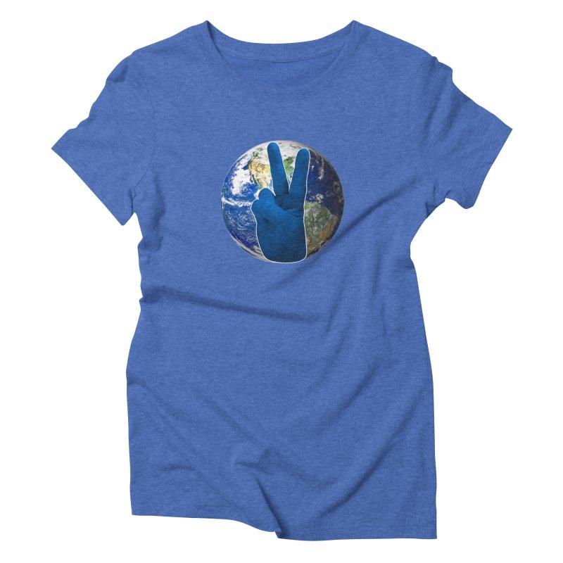 Peace Earth   Pantone 2020 Women's Triblend T-Shirt by Leading Artist Shop