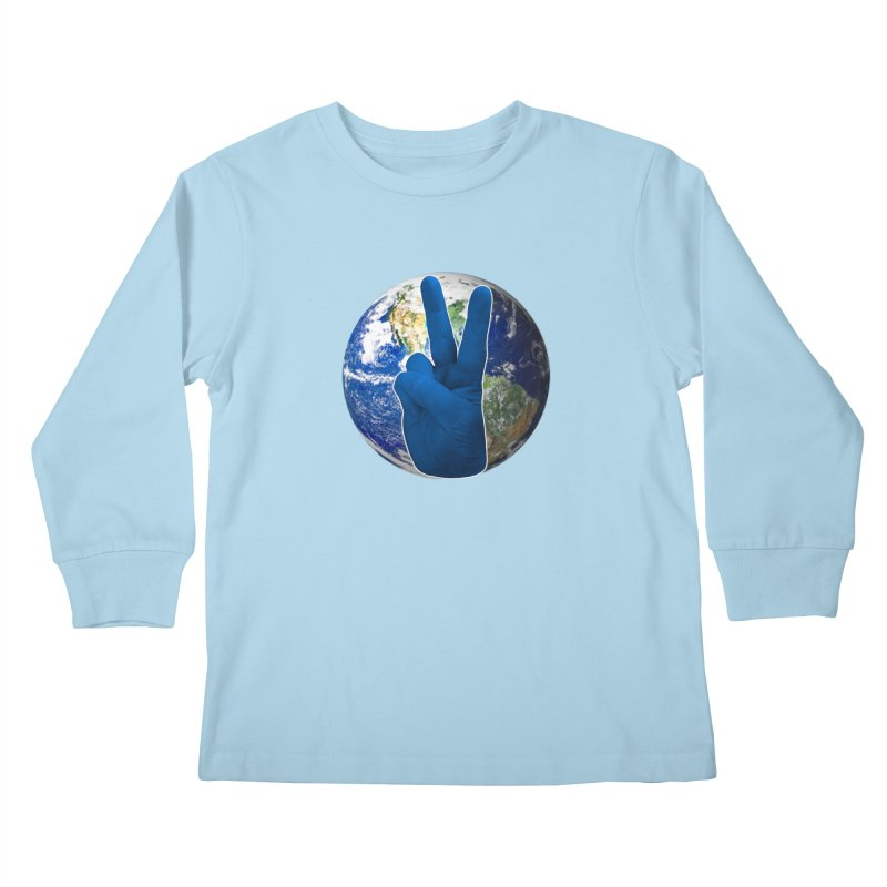 Peace Earth | Pantone 2020 Kids Longsleeve T-Shirt by Leading Artist Shop