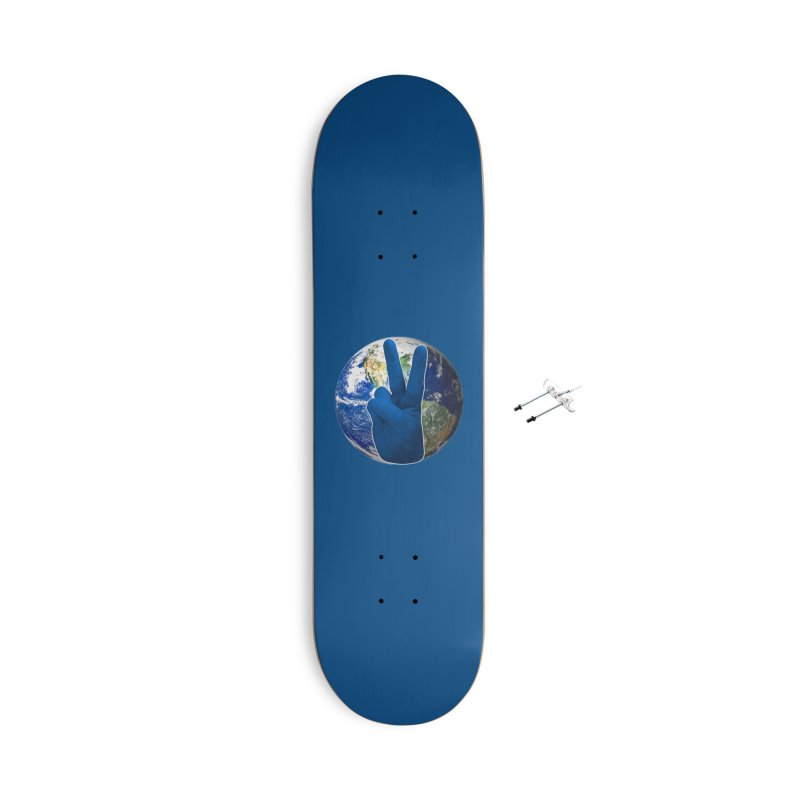 Peace Earth | Pantone 2020 Accessories With Hanging Hardware Skateboard by Leading Artist Shop