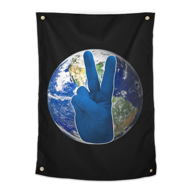 Peace Earth | Pantone 2020 Home Tapestry by Leading Artist Shop