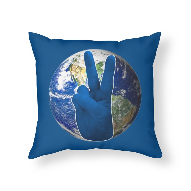 Peace Earth | Pantone 2020 Home Throw Pillow by Leading Artist Shop