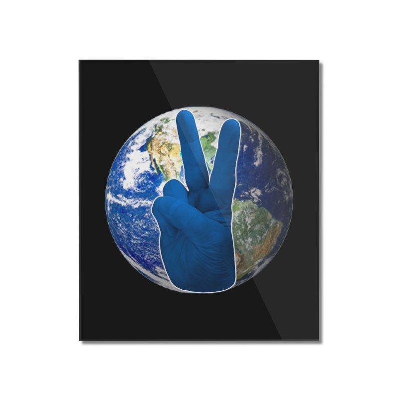 Peace Earth | Pantone 2020 Home Mounted Acrylic Print by Leading Artist Shop