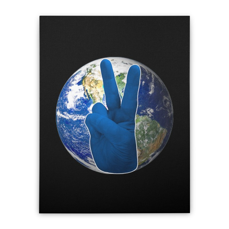 Peace Earth | Pantone 2020 Home Stretched Canvas by Leading Artist Shop