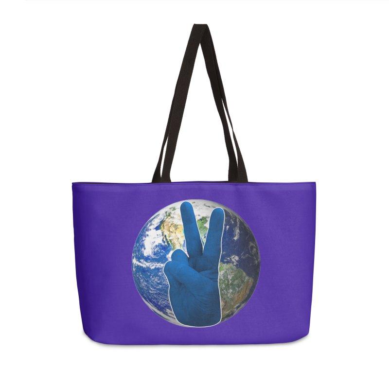 Peace Earth | Pantone 2020 Accessories Weekender Bag Bag by Leading Artist Shop